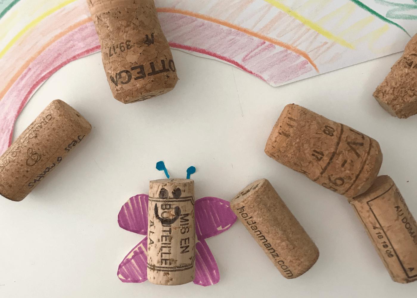 toddler activities cork craft