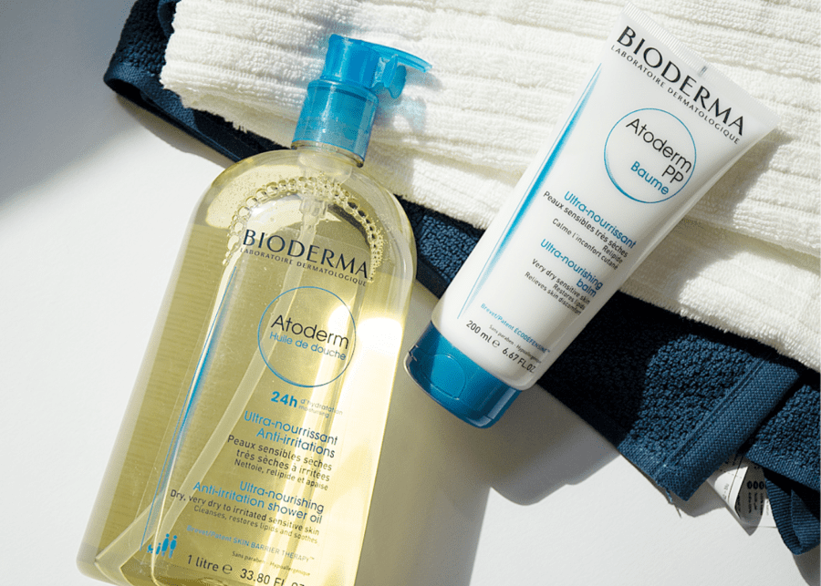 Bioderma Atoderm's two-step routine.