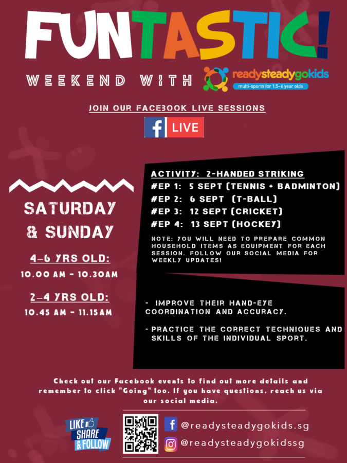Join these sport sessions with Ready Steady Go Kids Singapore